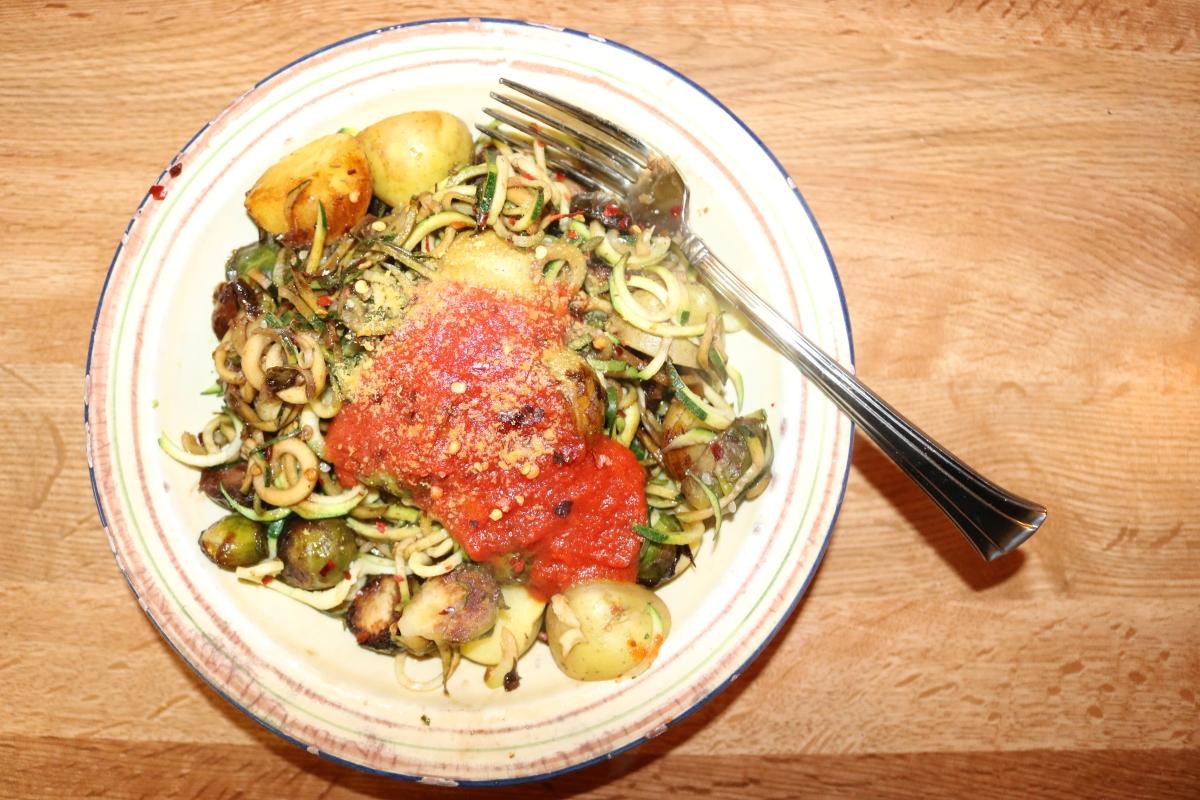 Easy Vegan Zoodle Dinner